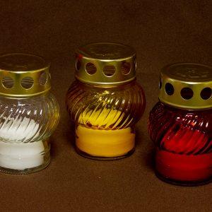 Temetői üveg mécsesek